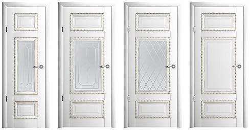 межкомнатная дверь Версаль-2 белая
