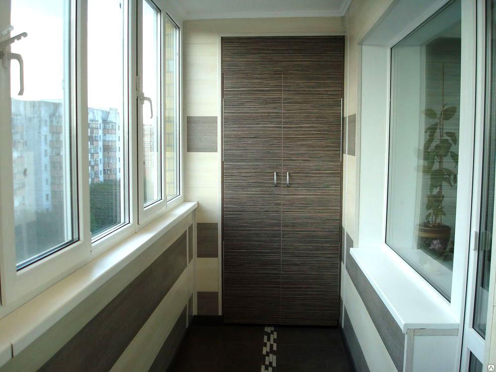 обшивка балкона и лоджии ПВХ панелями